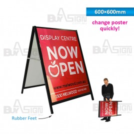 600x600mm Corflute A Boards with Printed Inserts
