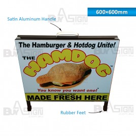 600x600mm Metal A Boards with Printed Graphics