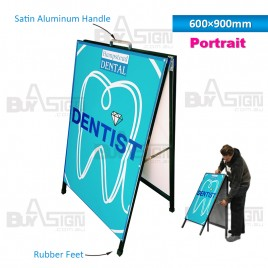 600x900mm Metal A Boards with Printed Graphics