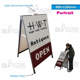 900x1200mm Metal A Boards with Printed Graphics