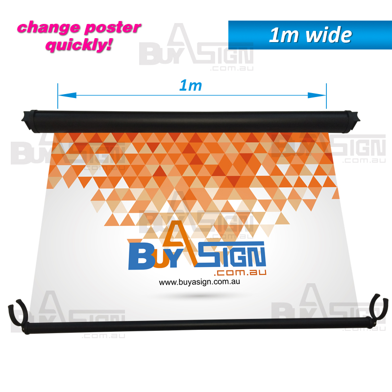 Retractable Barrier Banner 1m wide