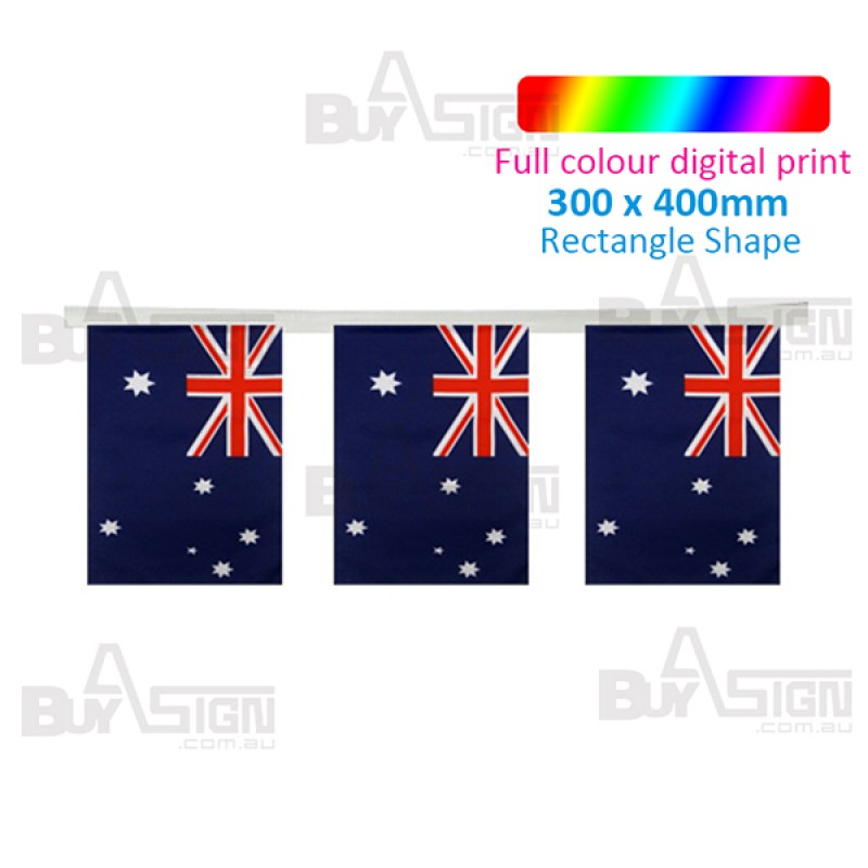 Large Bunting Flags - Rectangle Shape