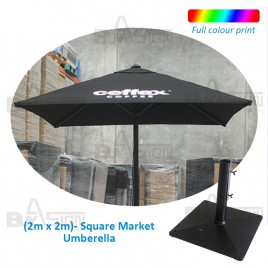 2M Square Cafe Umbrella, Logo Print NOT Included