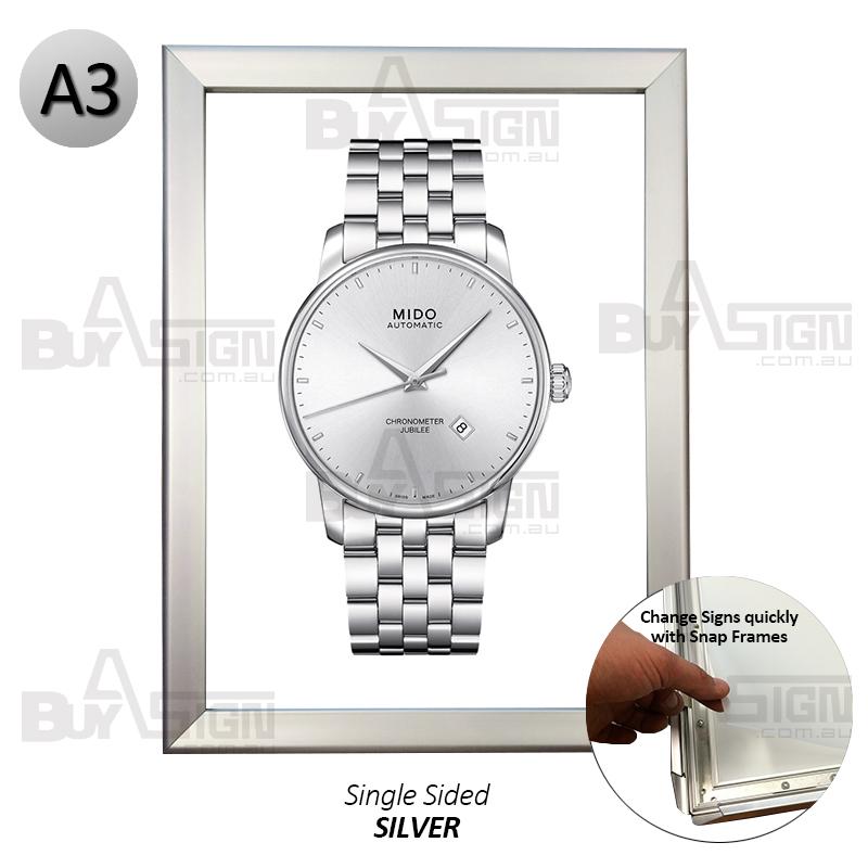 A3 Silver Poster frame/clip frame