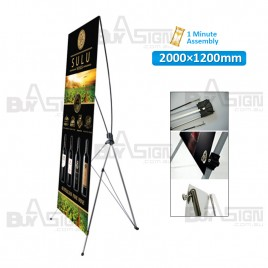1200x2000mm X Banners/Tension Banners with Print