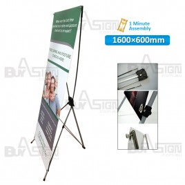 600x1600mm X Banners/Tension Banners with Print
