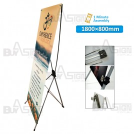 800x1800mm X Banners/Tension Banners with Print